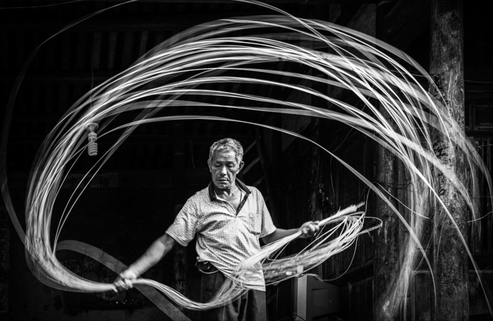 PSA Silver Medal - Rongli Hua (China)  Handmade Bamboo Strips