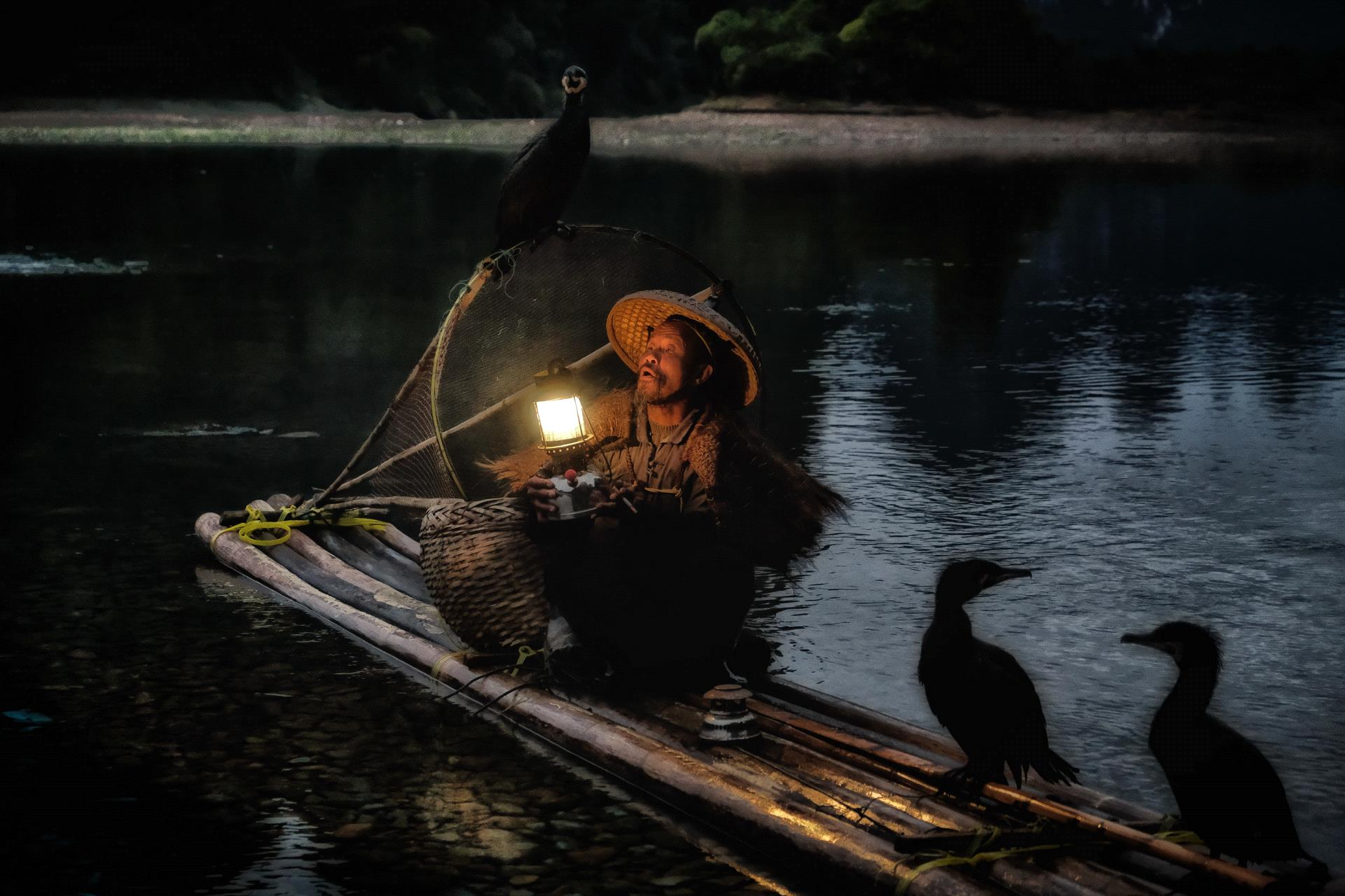 PSA HM Ribbons - Siong-Lim Kuah (Singapore)  Fisherman With Lamp
