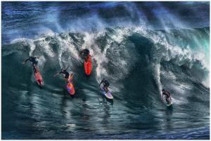APAS Bronze Medal - Thomas Lang (USA) <br /> Hawaii Surfers